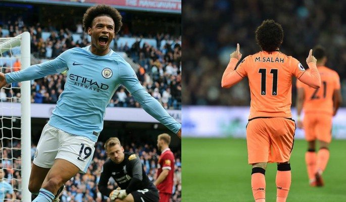 Leroy Sane and Mohamed Salah are the two top scoring fantasy football players