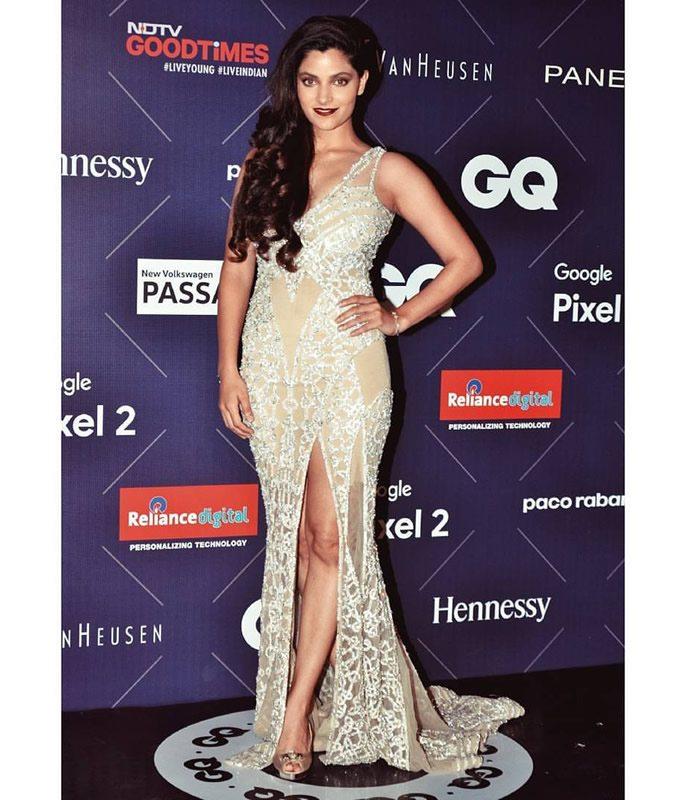 Saiyami Kher wearing a sparkling gown
