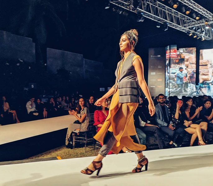 Radhika Apte on the catwalk