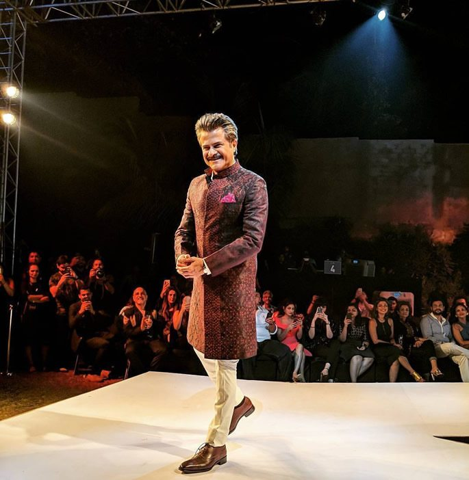 Anil Kapoor on catwalk