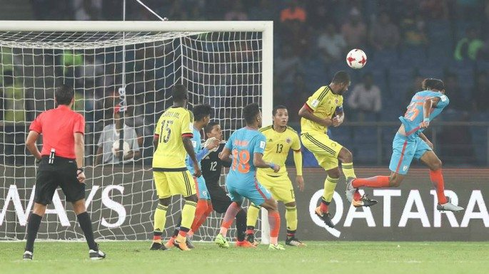 Jeakson Singh Thounaojam scored India's historic goal against Columbia