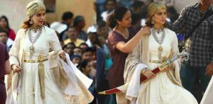 Kangana dressed as Rani of Jhansi