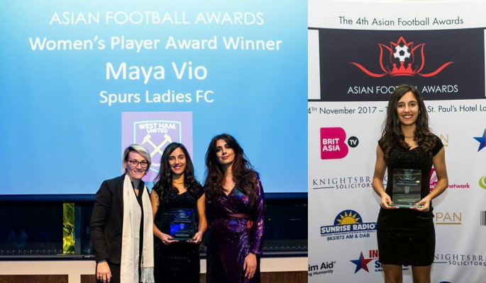 Maya Vio wins the Women's Player of the Year Award