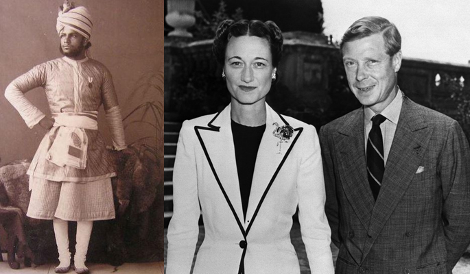 Abdul Karim and Wallis Simpson with Edward VIII