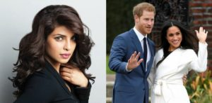 Meghan with Prince Harry, and Priyanka Chopra