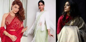 Sonam and Jacqueline in gorgeous sarees