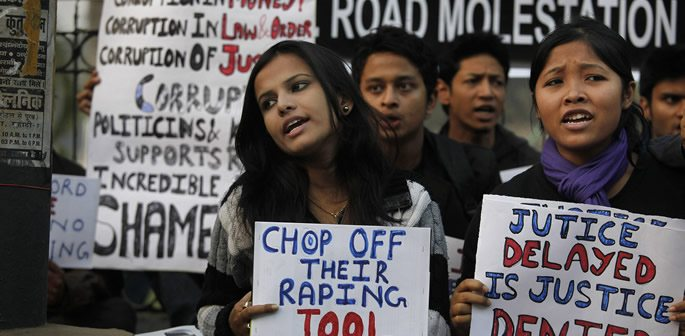 Indian protests on rape