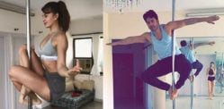 Jacqueline Fernandez gives Varun Dhawan Pole Dance Lessons