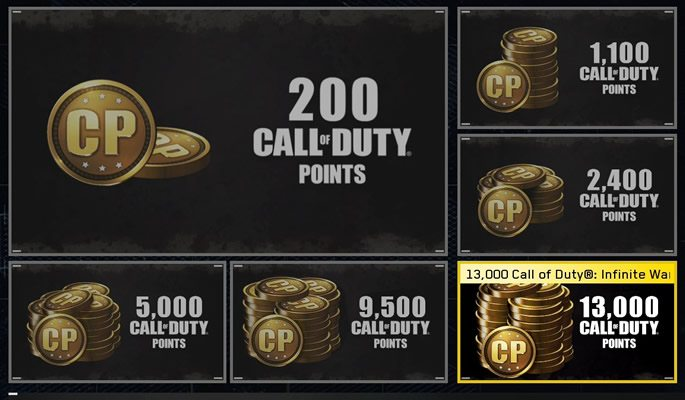 Screenshot of COD: WWII microtransactions