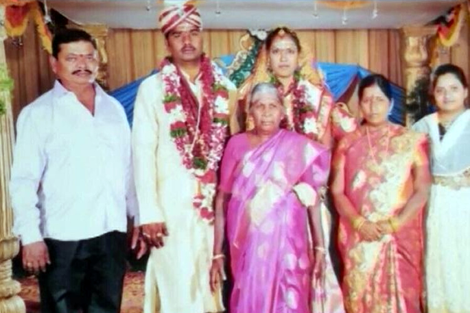Manasa and Rajendra with family
