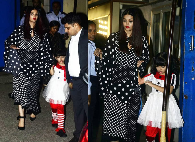 Aishwarya and Aradhya after the show