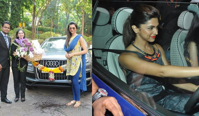 Deepika Padukone with her cars
