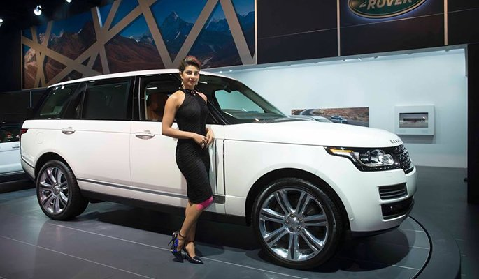 Priyanka Chopra at Range Rover Showroom