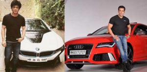 SRK and Salman with their cars