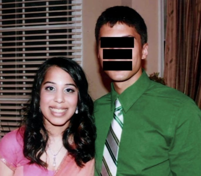 Anisha with her boyfriend