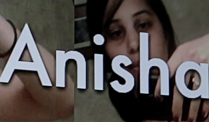 Anisha's pictures with her name in bold