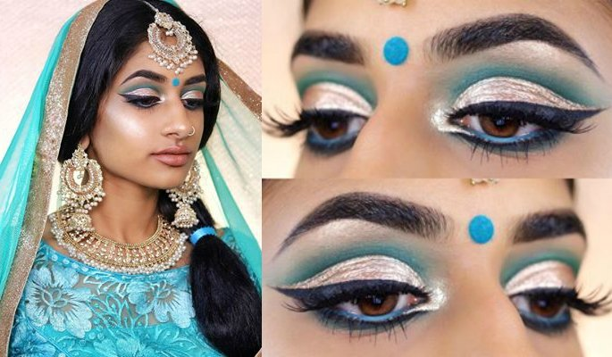Hamel as Jasmine and her eye make up