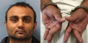 Suresh Varsani and handcuffs