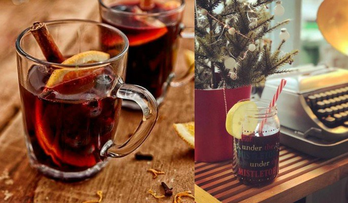 Mulled Wine is best served warm with a slice of orange inside