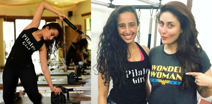 Namrata exercising and with Kareena Kapoor Khan