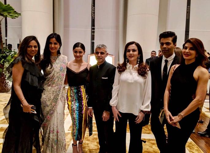 Sadiq with Alia, Katrina, Karan and Jacqueline