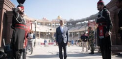 Sadiq Khan crosses Wagah Border by Foot from India to Pakistan