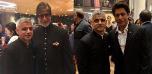 Sadiq Khan with SRK and Amitabh