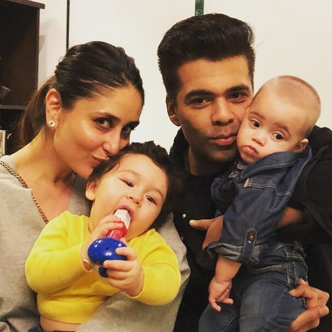 Taimur with Kareena and Karan Johar