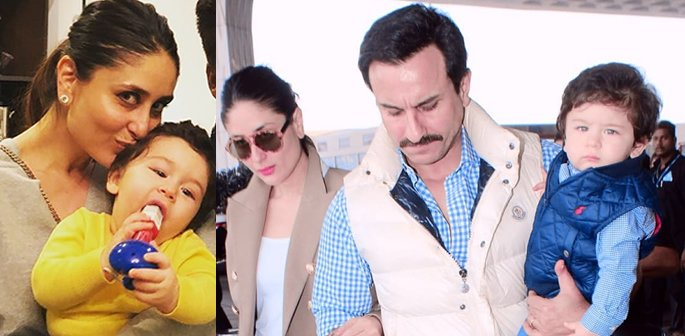 Taimur with Kareena and Saif