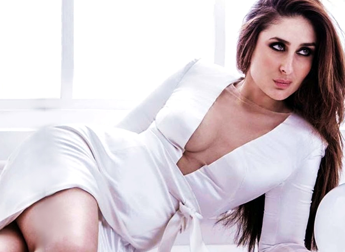 Kareena in a white dress