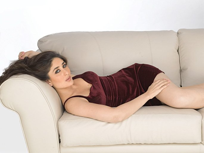Kareena relaxing on a sofa