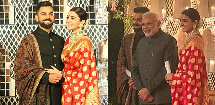 Virat and Anushka with Narendra Modi