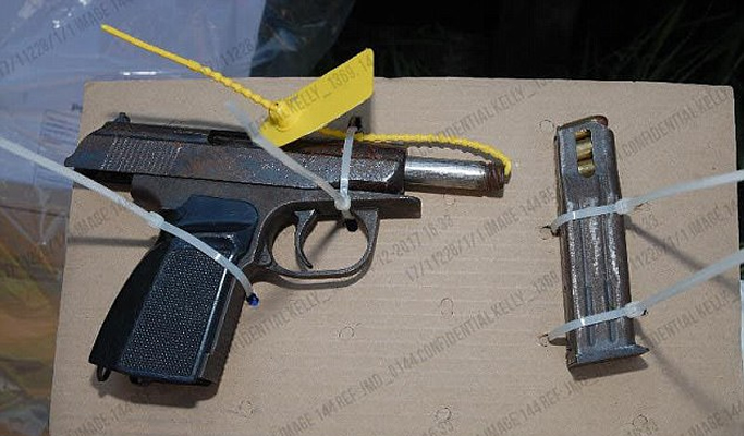 Gun recovered from property