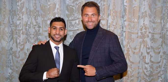 Amir Khan with Eddie Hearn