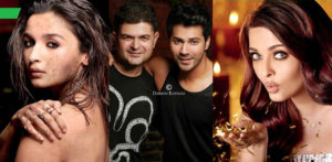 Alia, Dabboo with Varun and Aishwarya