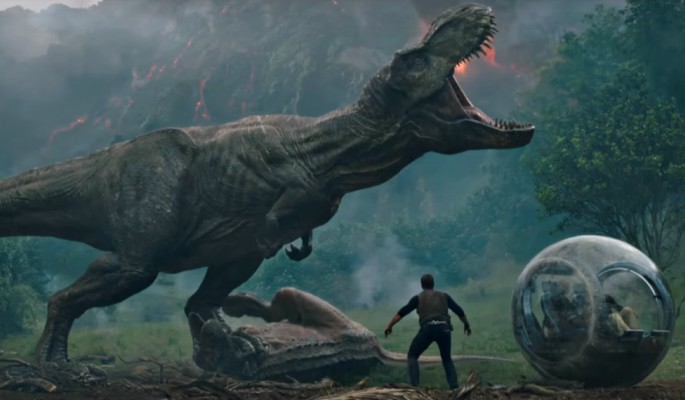 Dinosaur action returns in Jurassic World: Fallen Kingdom