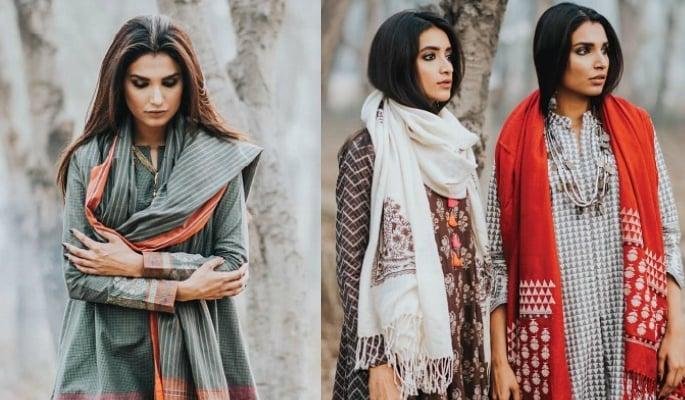 Khaadi models wearing modest fashion