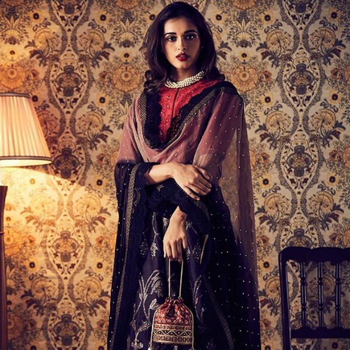 Model wearing ethnic clothing