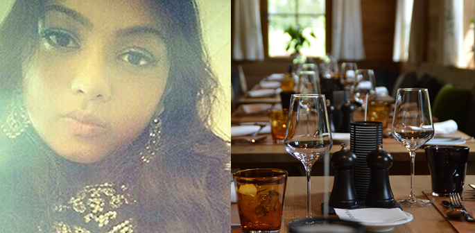 Shahida Shahid and a representational image of a restaurant.
