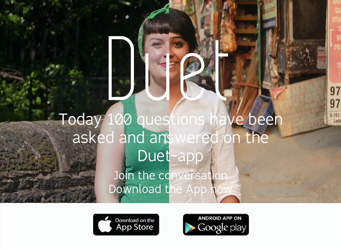 Promo screen of DUET