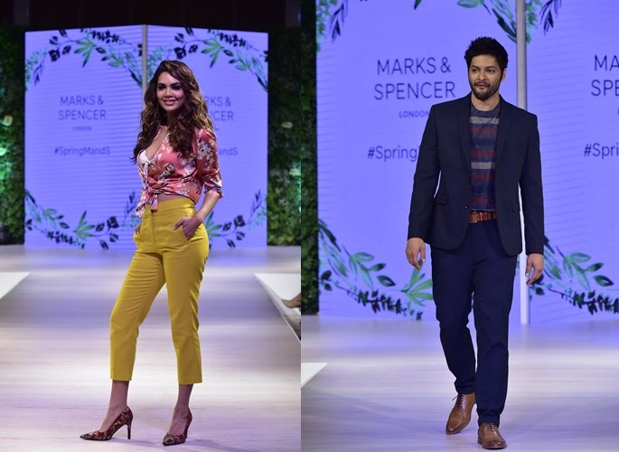 Esha and Ali walking runway
