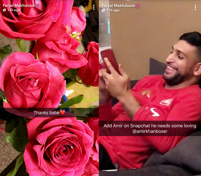 Pink roses and Amir laughing