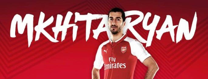 Henrikh Mkhitaryan announced by Arsenal FC