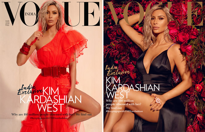 Kim Kardashian Brings Out Her Desi Diva For 'India Exclusive' Vogue Cover