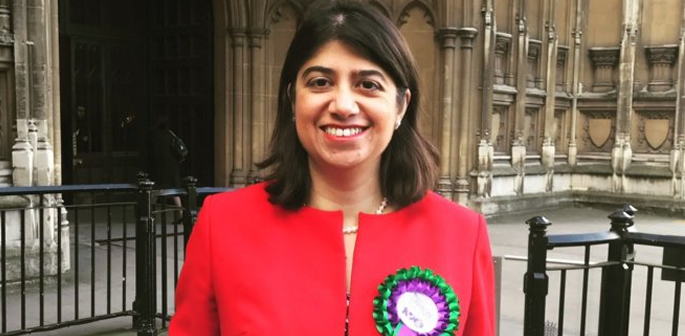 Seema outside Houses of Parliament