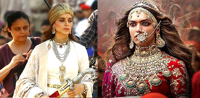 Kangana and Deepika as the historical queens