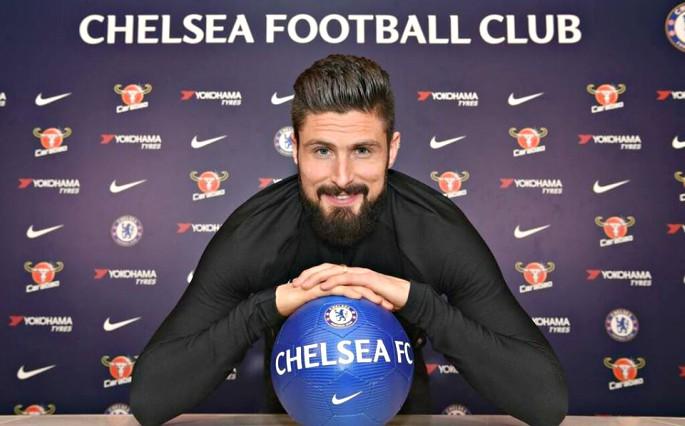 Olivier Giroud announced for Chelsea