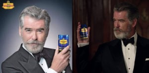 Pierce Brosnan in adverts