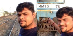 Youth Arrested for fake Train Accident Selfie Viral Video