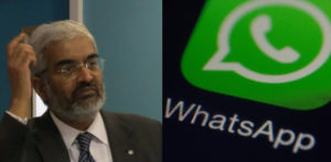 Sunil Shastri and WhatsApp logo